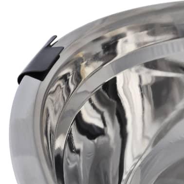 vidaXL Justerbar ställning & 2 x 2,6 L matskålar i rostfritt stål[5/7]