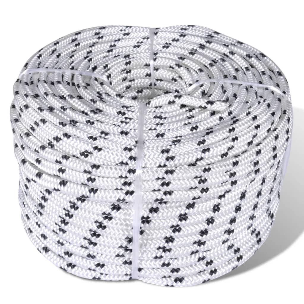 Splétané lano lodní, polyester 8 mm x 50 m