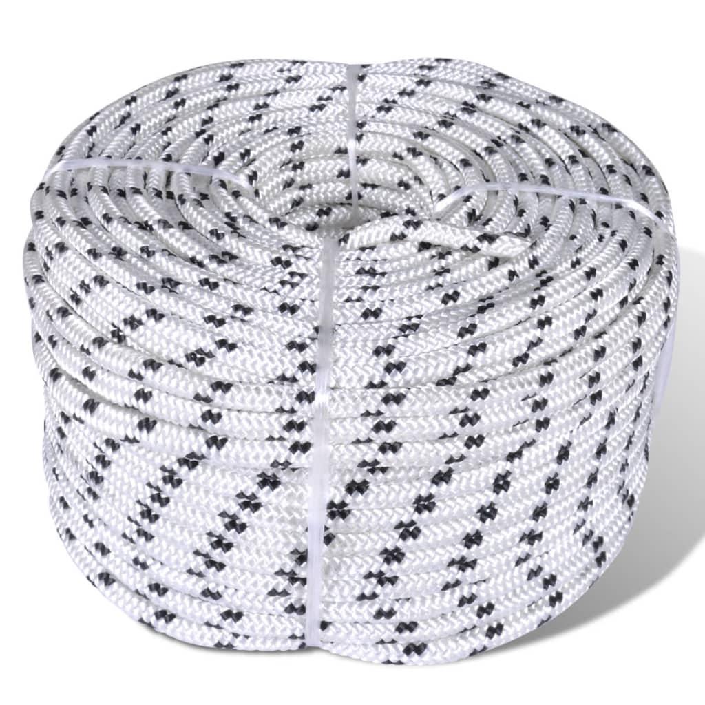 Splétané lano lodní, polyester 14 mm x 50 m