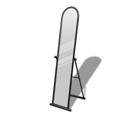 Free Standing Floor Mirror Full Length Rectangular Black[1/6]