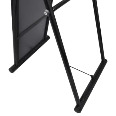 Free Standing Floor Mirror Full Length Rectangular Black[4/6]