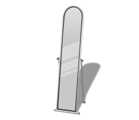 Free Standing Floor Mirror Full Length Rectangular Gray[1/6]