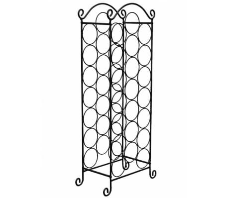 vidaXL Wine Rack for 21 Bottles Metal