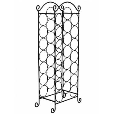 vidaXL Wine Rack for 21 Bottles Metal[2/5]