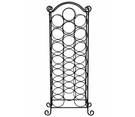vidaXL Wine Rack for 21 Bottles Metal[3/5]