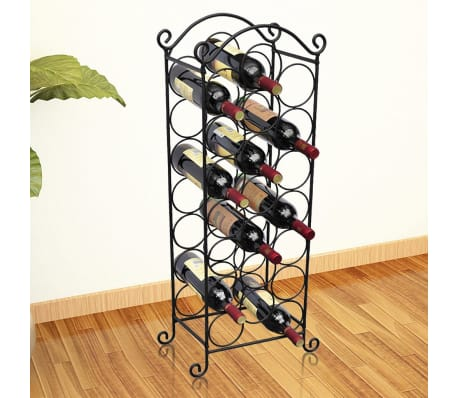 vidaXL Wine Rack for 21 Bottles Metal[1/5]