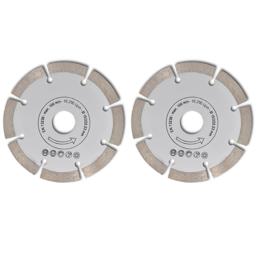 Disc diamantat pentru fierăstrău circular 150 mm 2 buc vidaxl.ro
