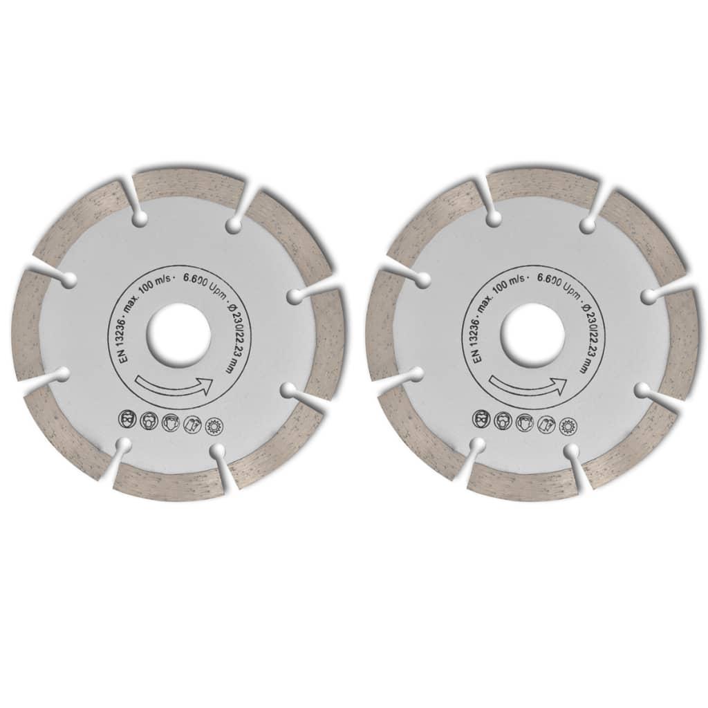 Disc diamantat pentru fierăstrău circular 230 mm 2 buc imagine vidaxl.ro