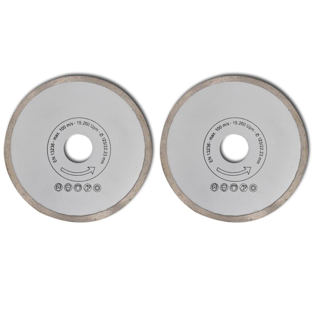 Disc diamantat pentru fierăstrău circular margine uniformă 125 mm 2buc vidaxl.ro