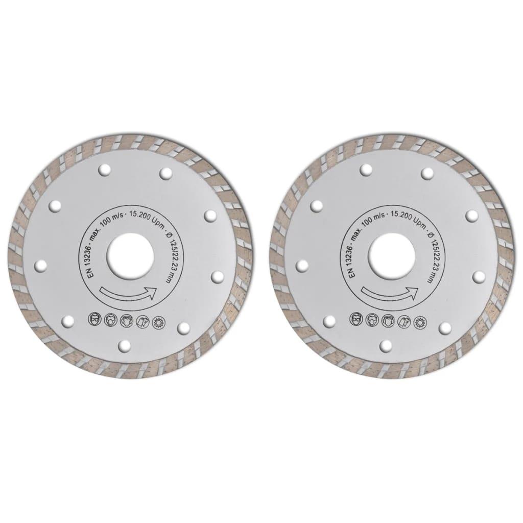 Disc diamantat pentru fierăstrău circular turbo 125 cm 2 buc vidaxl.ro