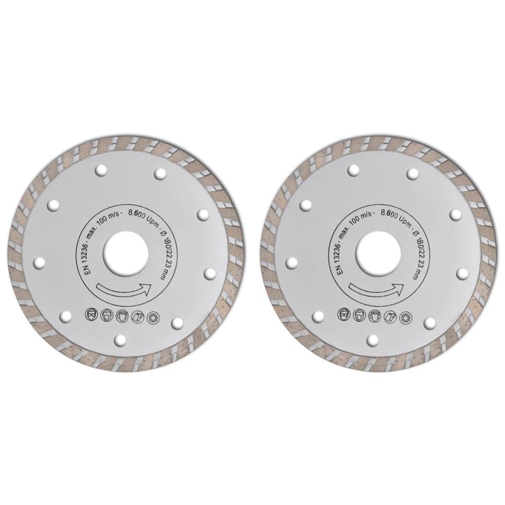 Disc diamantat pentru fierăstrău circular turbo 180 cm 2 buc poza 2021 vidaXL