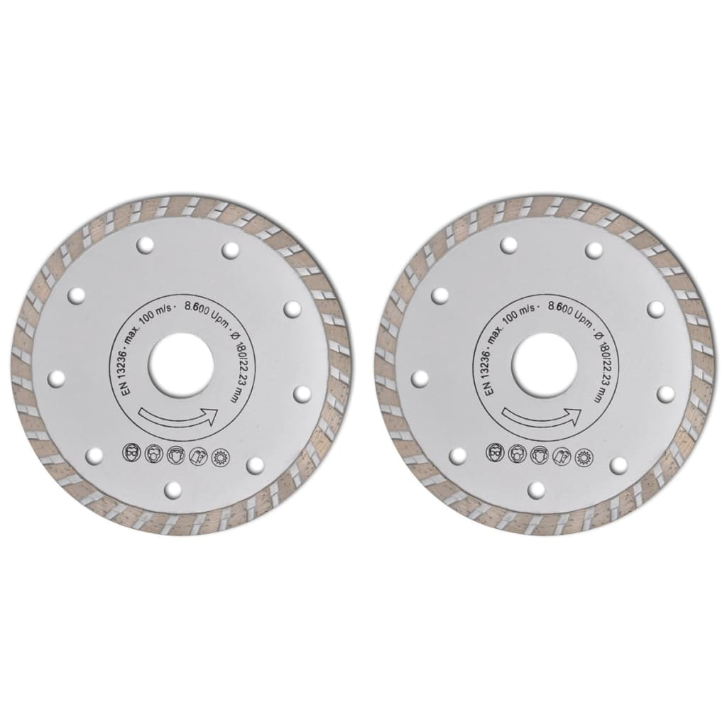 Disc diamantat pentru fierăstrău circular turbo 180 cm 2 buc vidaxl.ro