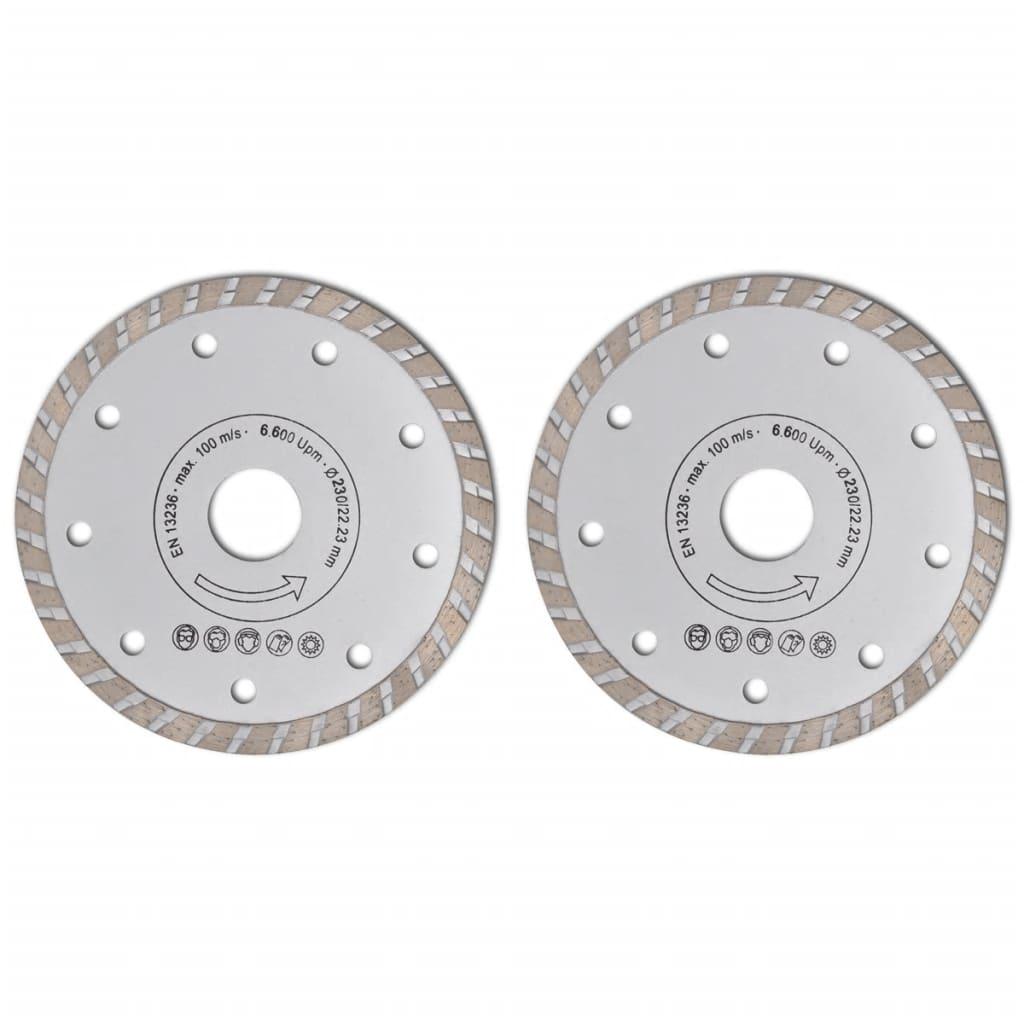Disc diamantat pentru fierăstrău circular turbo 230 cm 2 buc vidaxl.ro