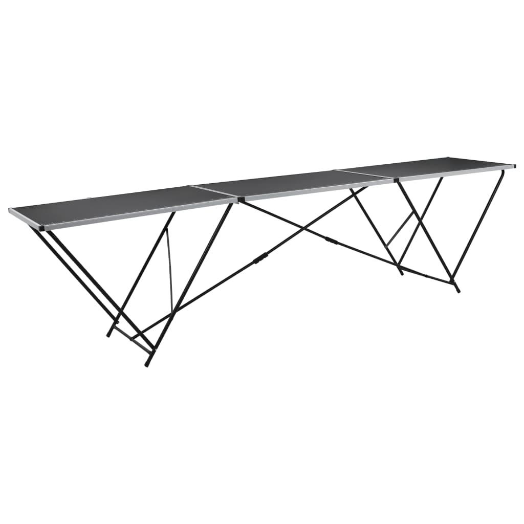 vidaXL Skládací tapetovací stůl MDF a hliník 300 x 60 x 78 cm