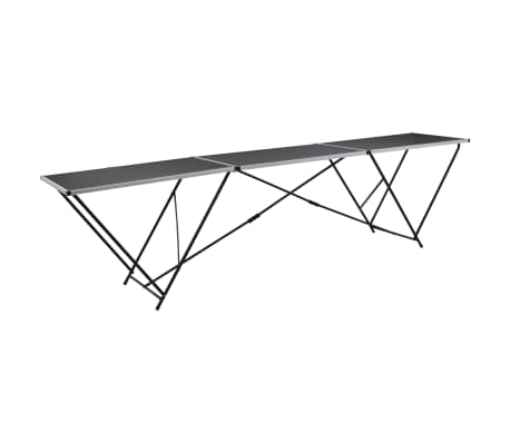 vidaXL Folding Pasting Table MDF and Aluminium 300x60x78 cm