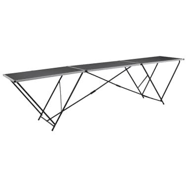 vidaXL Klijavimo stalas, sulankst., MDF ir aliuminis, 300x60x78cm[1/11]