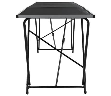 """vidaXL Folding Pasting Table MDF and Aluminium 118.1""""x23.6""""x30.7""""[4/11]"""