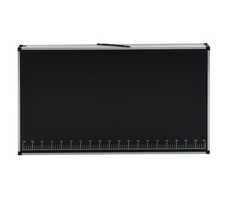 vidaXL Klijavimo stalas, sulankst., MDF ir aliuminis, 300x60x78cm[5/11]