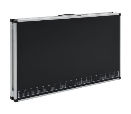 vidaXL Klijavimo stalas, sulankst., MDF ir aliuminis, 300x60x78cm[6/11]
