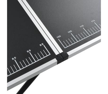 vidaXL Klijavimo stalas, sulankst., MDF ir aliuminis, 300x60x78cm[8/11]