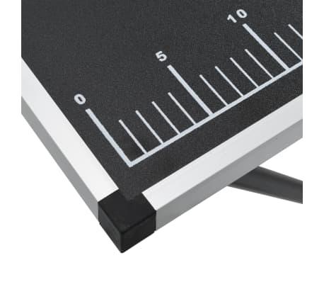 vidaXL Klijavimo stalas, sulankst., MDF ir aliuminis, 300x60x78cm[9/11]