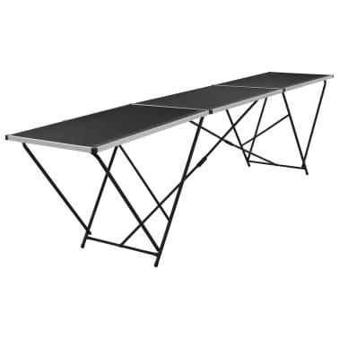 """vidaXL Folding Pasting Table MDF and Aluminium 118.1""""x23.6""""x30.7""""[2/11]"""