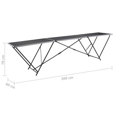 """vidaXL Folding Pasting Table MDF and Aluminium 118.1""""x23.6""""x30.7""""[11/11]"""