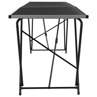 vidaXL Klijavimo stalas, sulankst., MDF ir aliuminis, 300x60x78cm[4/11]