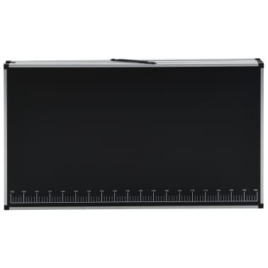 """vidaXL Folding Pasting Table MDF and Aluminium 118.1""""x23.6""""x30.7""""[5/11]"""