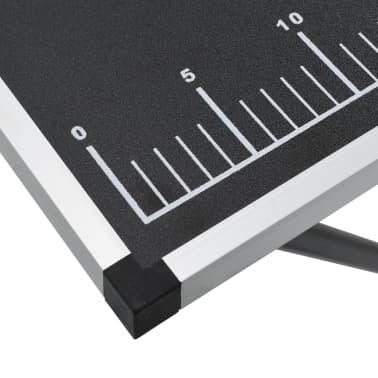 """vidaXL Folding Pasting Table MDF and Aluminium 118.1""""x23.6""""x30.7""""[9/11]"""