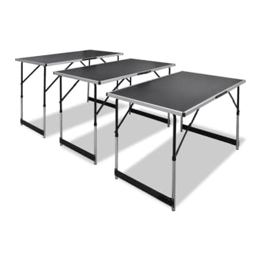 vidaXL Pasting Table 3 pcs Foldable Height Adjustable[1/7]