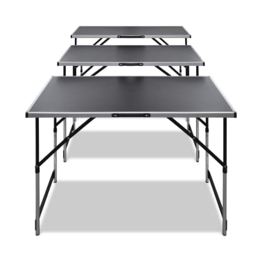 vidaXL Pasting Table 3 pcs Foldable Height Adjustable[2/7]