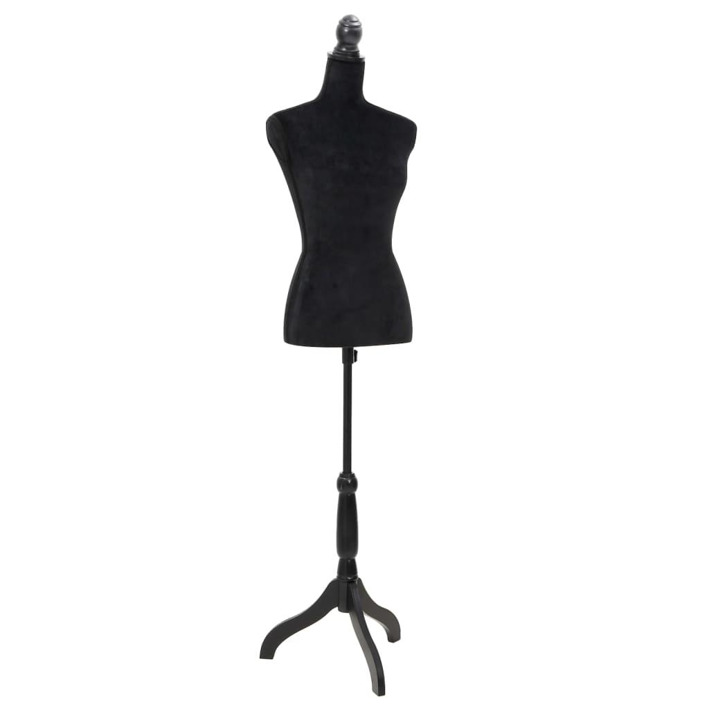 vidaXL Bust pentru dame, negru, manechin croitorie poza 2021 vidaXL