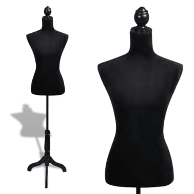 Ladies Bust Display Black Female Mannequin Female Dress Form[1/5]