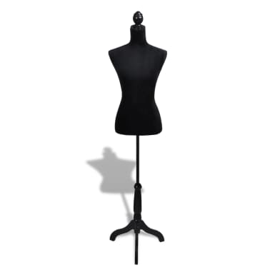 Ladies Bust Display Black Female Mannequin Female Dress Form[2/5]