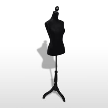 Ladies Bust Display Black Female Mannequin Female Dress Form[5/5]