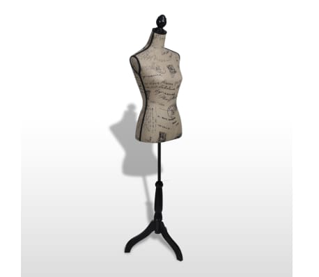 Ladies Bust Display Bust Brown Black Jute Female Mannequin Display[3/5]
