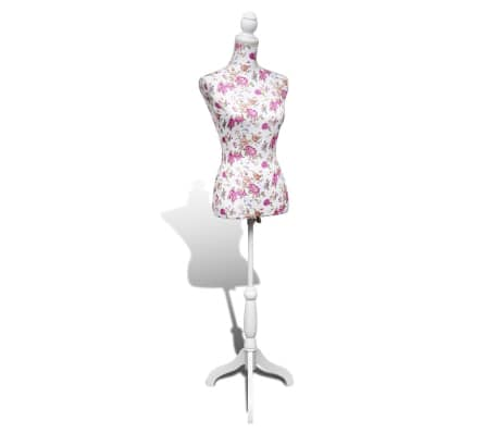 Ladies Bust Display Mannequin Cotton White With Rose[5/6]