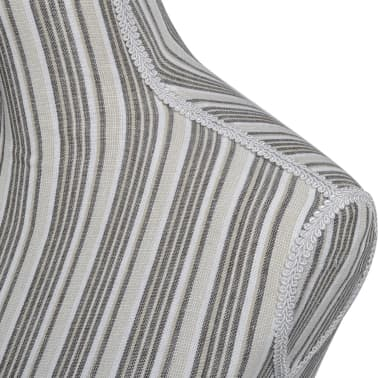 Ladies Bust Display Mannequin Linen with Stripes[4/5]