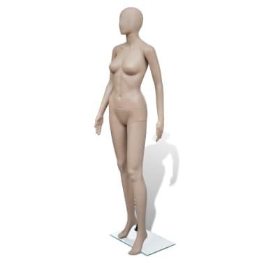 vidaXL Mannequin de vitrine Femme Tête ronde[1/6]