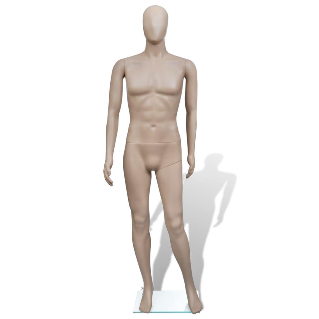 Pánská figurína s kulatou hlavou