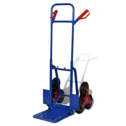 Carretilla de carga para 150 kg con 6 ruedas, azul - roja