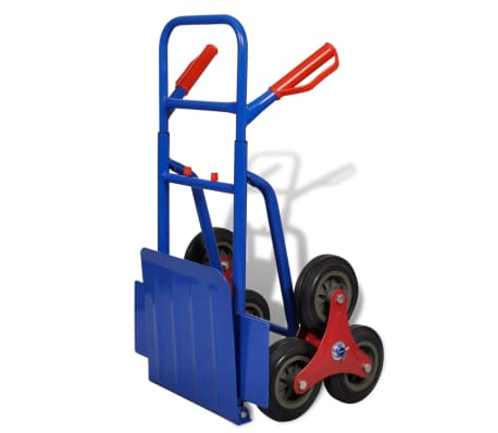 vidaXL Folding Sack Truck with 6 Wheels Blue[3/4]