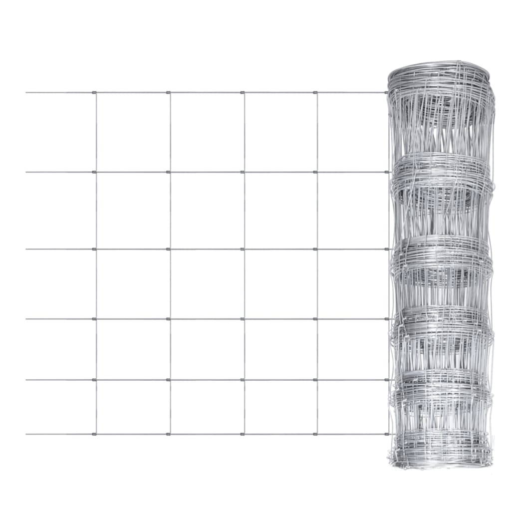 Wildhek verzinkt 50m x 80cm 6 draden horizontaal