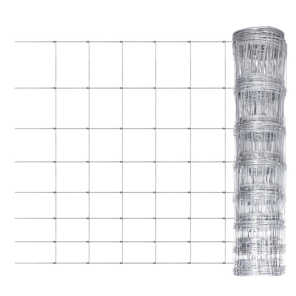 Wildhek verzinkt 50m x 100cm 8 draden horizontaal
