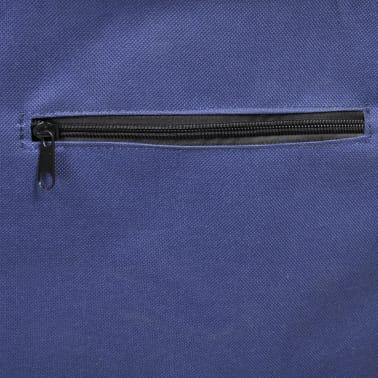 vidaXL Beach Trolley with Wheels Portable Foldable Blue[4/6]