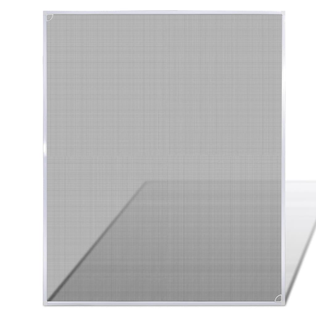 Plasă țânțari pentru fereastră 100 x 120 cm, Alb vidaxl.ro