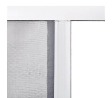 Porta scorrevole con rete anti insetti zanzariera 120x215cm bianca - Porta scorrevole bianca ...