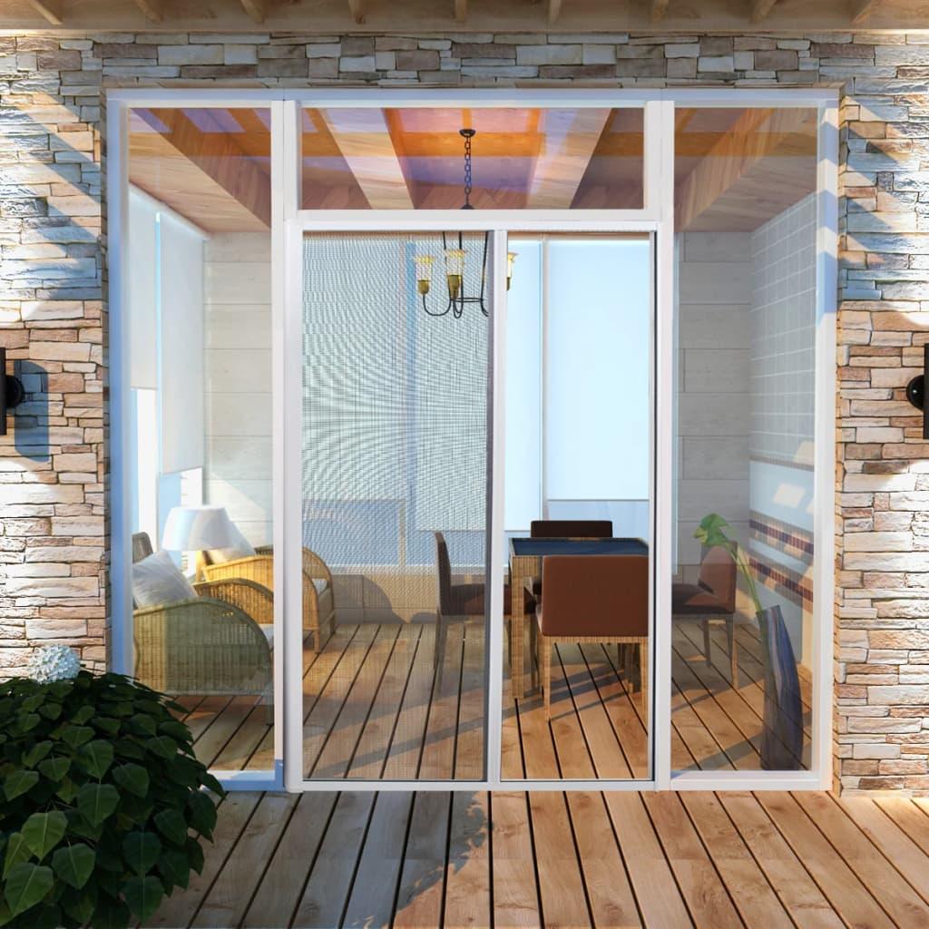 Rolovací Dveře Proti Hmyzu 120 x 215 cm Bílé