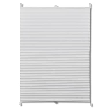 Plisse Blind 50x125cm White Pleated Blind[2/7]